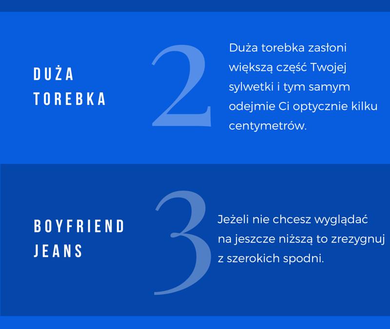 5 modowych błędów, które robią niskie kobiety.